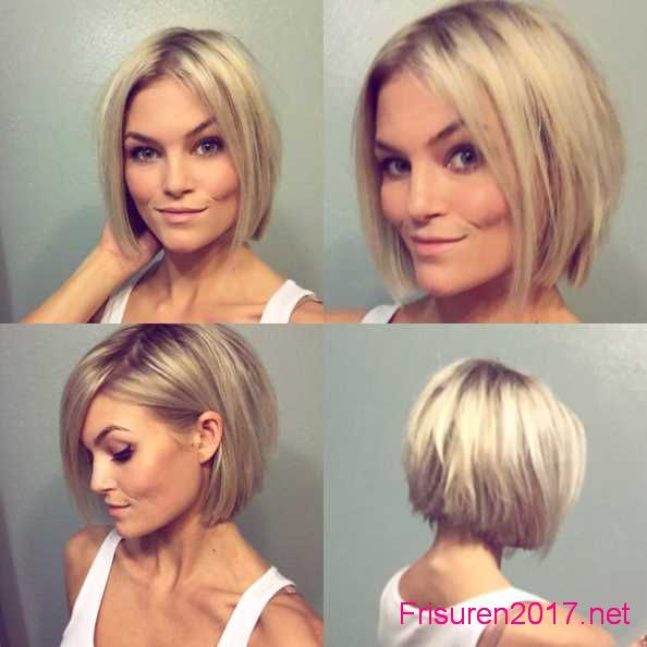 Damen frisuren bob blond