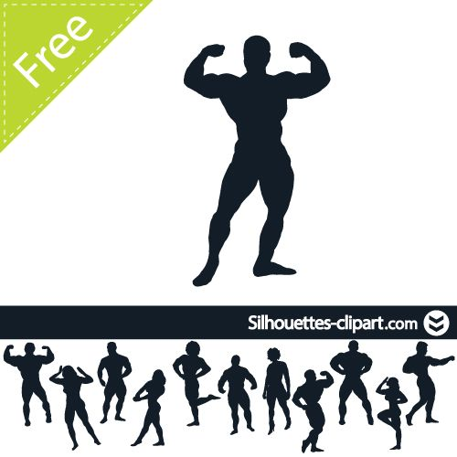 bodybuilder vector silhouette silhouettes clipart weight lifting pinterest bodybuilder. Black Bedroom Furniture Sets. Home Design Ideas