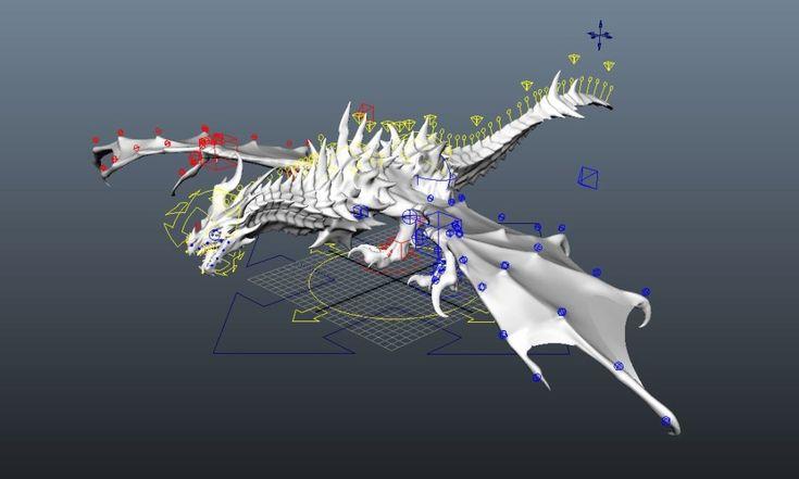 Alduin Dragon Rig (Free Maya Rig)