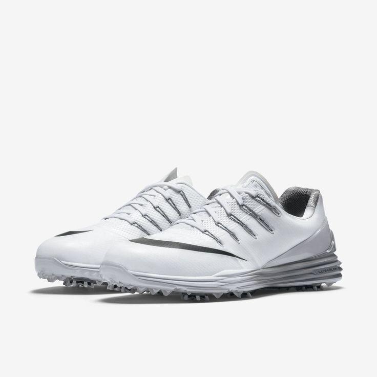 Nike Lunar Control 4 Mens Golf Shoes White Grey Black 819037 101 McIlroy # Nike