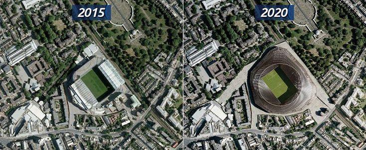 Футбольные стадионы будущего. Какие арены строят себе топ-клубы Европы? Стадионы Англии.