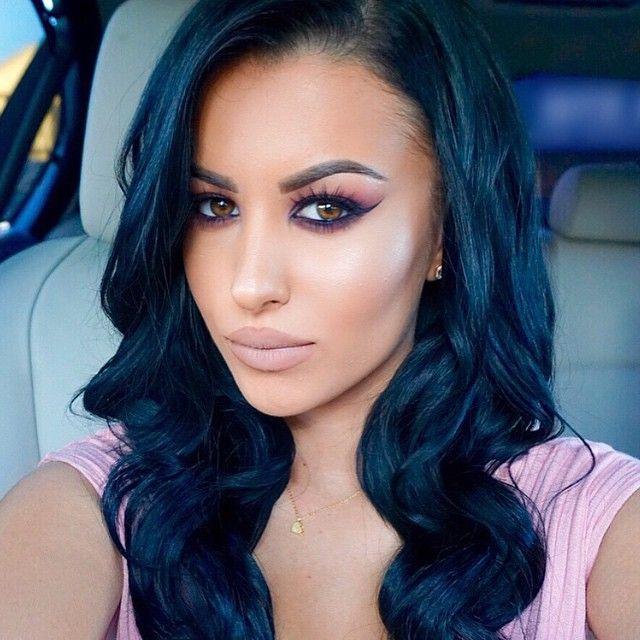 20 Best Blue Black Hair Images On Pinterest Hair Colors Colourful