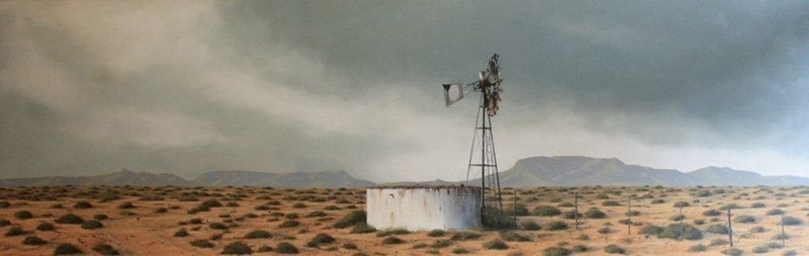 Donna McKellar, south african artist subject matter: Karoo