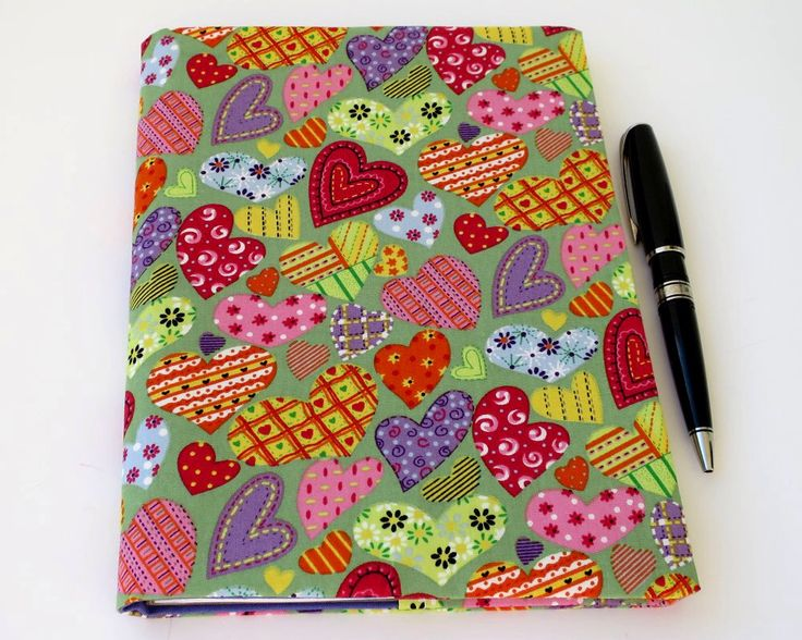 Fabric Book Cover, Suits A5 Notebook, Bonus Notebook Included, Heart Cotton Fabric, Great Gift for Girl, Girl's Journal, Teenage Diary by JadoreBooks on Etsy https://www.etsy.com/au/listing/252491335/fabric-book-cover-suits-a5-notebook
