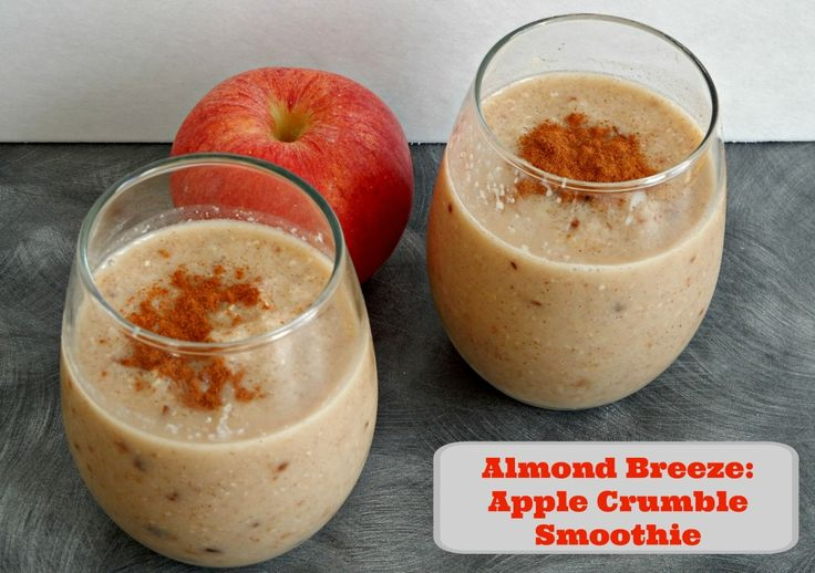 Food Friday ~ #CoolerWithAlmondBreeze ~ Apple Crumble Smoothie #recipe - 1 Heart, 1 Family