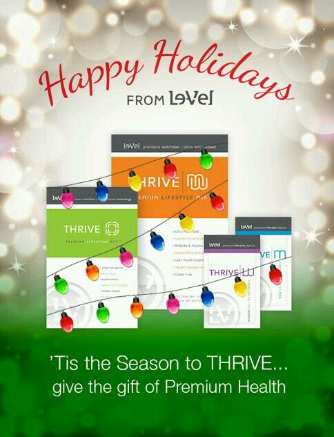 Don't you want your ❤'d ones to be HEALTHIER this year?? Give the  of THRIVE for Christmas www.spitfire512.le-vel.com