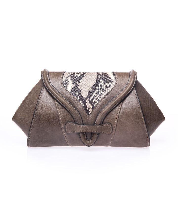 Grey Clutch Bag | SOKA