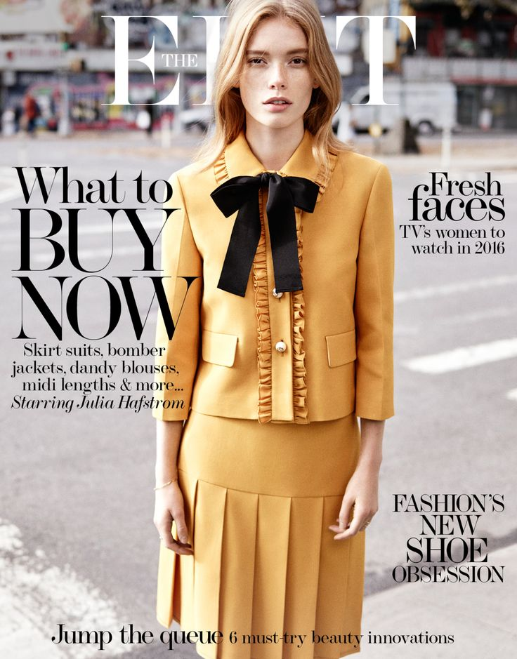 Julia Hafstrom by Jen Carey for The Edit December 2015 cover - Gucci Resort 2016