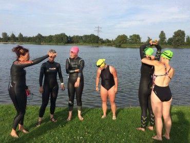 Gevorderdengroep clinic open water zwemmen augustus
