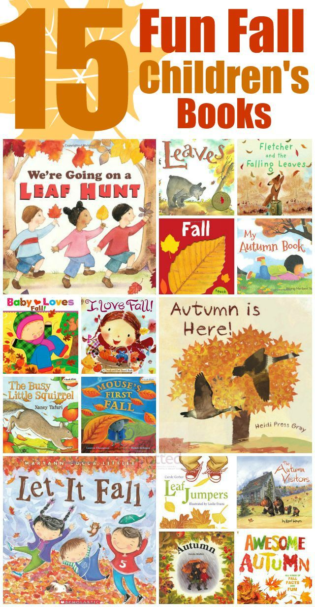 I love Autumn with all the leaves falling, pumpkins, apples, and so much more! Check out these 15 Fun Fall Children's Books and start celebrating fall!