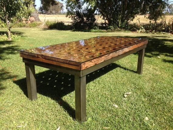 Vintage Riddling Rack Coffee Table