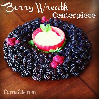 Berry Wreath Centerpiece Tutorial - fun and easy for summer celebrations!