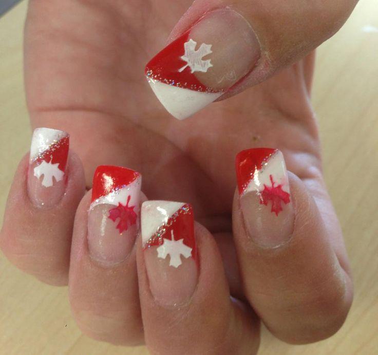 Canada day nails! #canada #gelnails