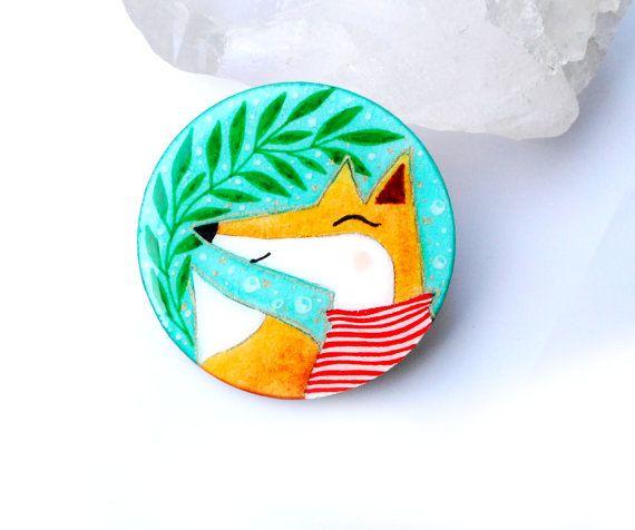 Fox Illustrated legno di PumpkinDesign