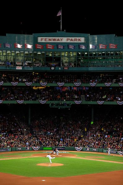 A general view of Game Two of the 2013 World Series between the Boston Red Sox and the St. Louis Cardinals at Fenway Park on October 24, 2013.