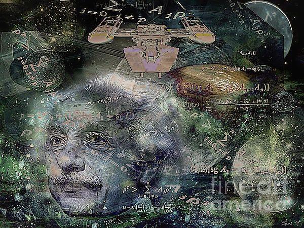 'RELATIVELY SPEAKING' Abstract Digital Painting of Albert Einstein.