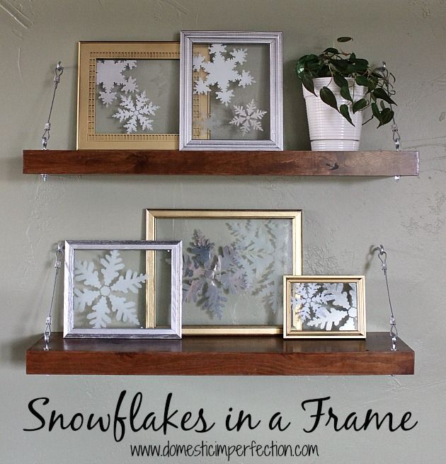 stenciled snowflakes on glass - so pretty!