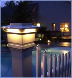 8 best solar led post lights images on pinterest solar led fences post cap aloadofball Gallery