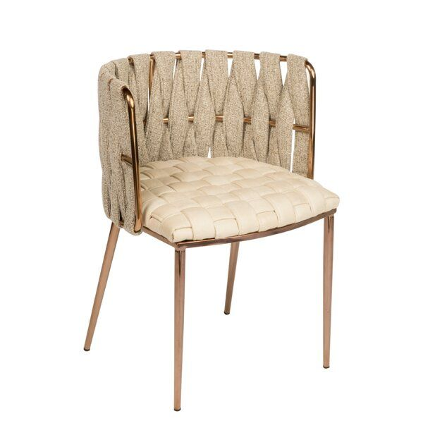 Cassie Upholstered Dining Chair With Images Gold Dining Chairs