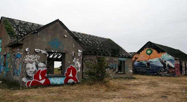 In the early Nineties, the quiet French coastal town of Pirou Plage, Normandy, had high hopes for a huge new seaside resort promised by a grafitti