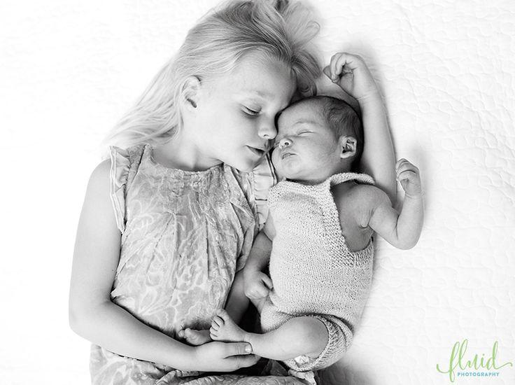 Newborn boy photoshoot siblings