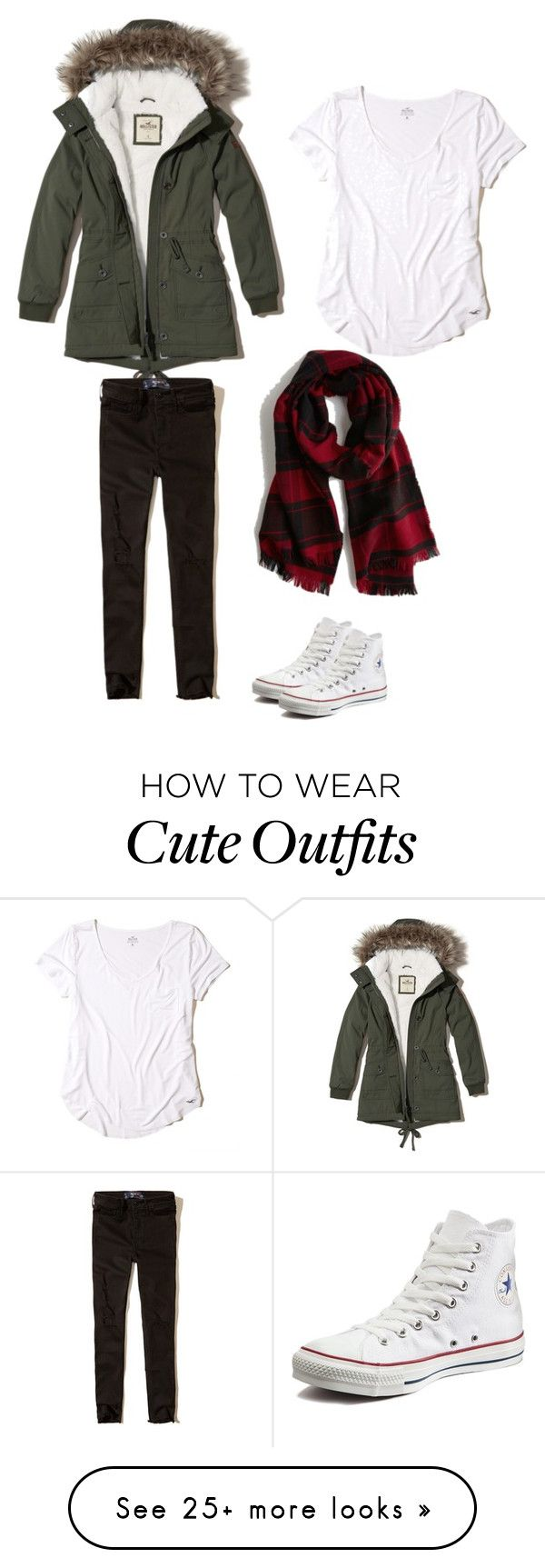 """""""Cute Winer City Outfit"""" by bootsi on Polyvore featuring Hollister Co. and Converse"""