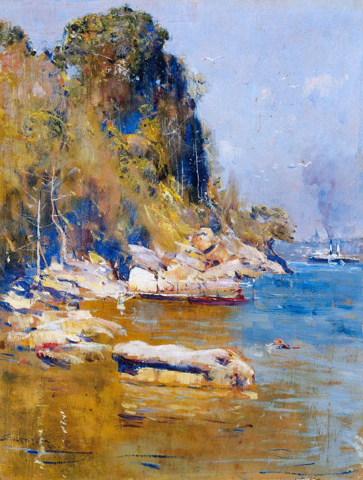 Arthur Streeton, From My Camp Sirius Cove 1869, Fade Proof HD Print or Canvas in Art, Prints | eBay