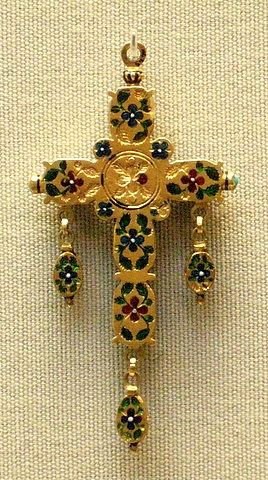 Enamelled gold, back side of cross | Flickr - England mid-late 16th c
