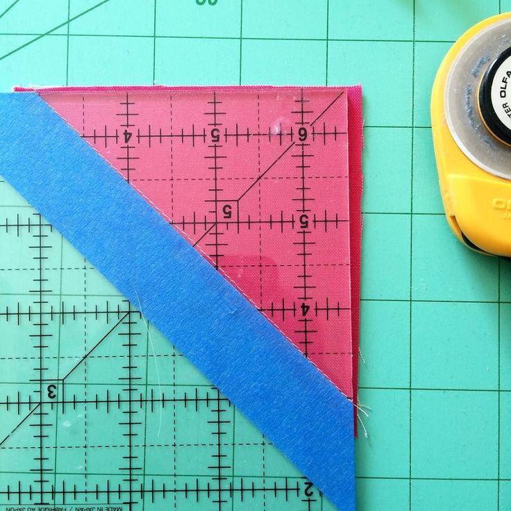 Half Square Triangle Quick Trimming Tip - AmysCreativeSide.com