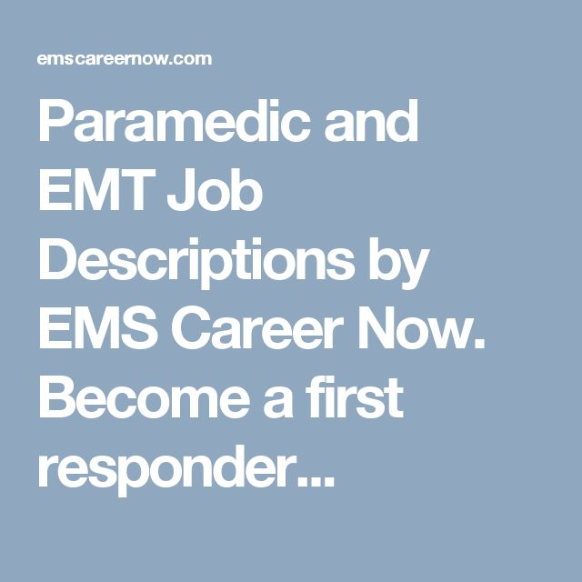 11 best HOSA career display images on Pinterest Display boards - paramedic job description
