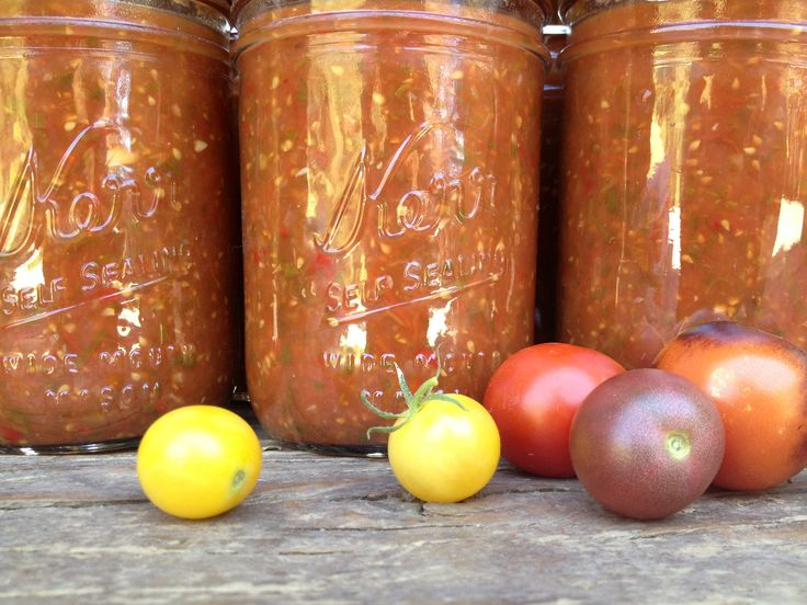 Lazy Cherry Tomato Salsa  ---Made this with home grown cherry tomatoes and homegrown jalepenos.