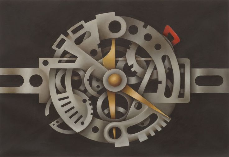 Mechanism of Thought Circular Acrylic and oil on canvas     cm 50 x 70