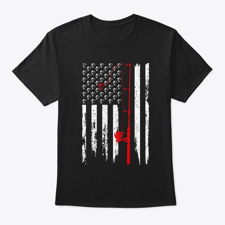 Download American Flag Fishing T-shirt in 2020 | Fishing t shirts ...