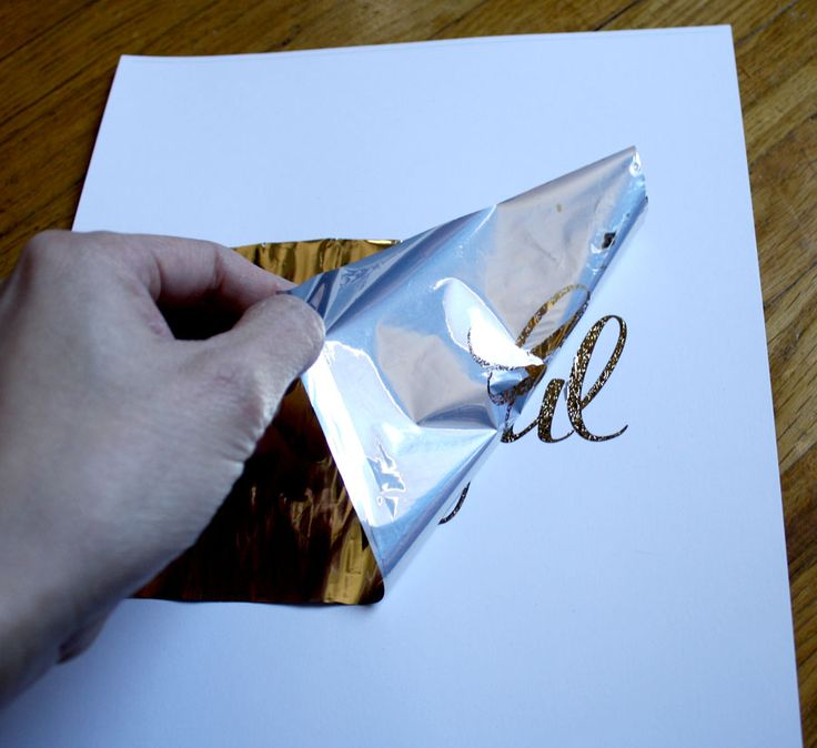 DIY gold metallic foil printing, WHAT! it's that easy?!?! Not always needing to be printed! Annotated by Lisa Di Camillo