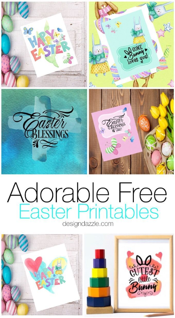 Free Easter Printables that will inspire Easter ideas, crafts, and decor on Desi…   – Printables