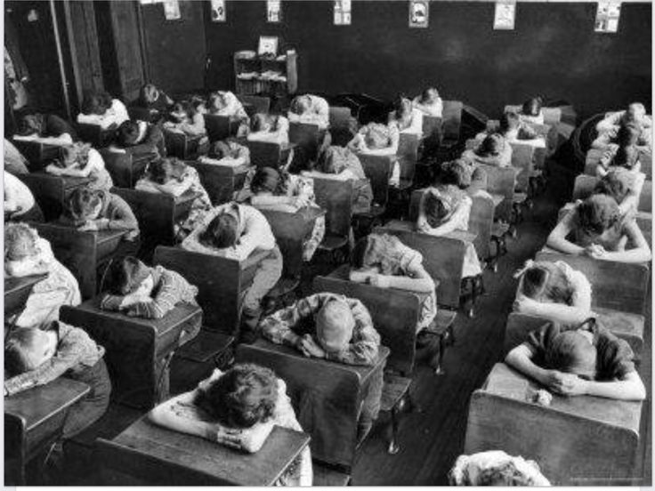 I remember having rest period at school.  Everyone had to put their heads on their desks for 30 minutes.