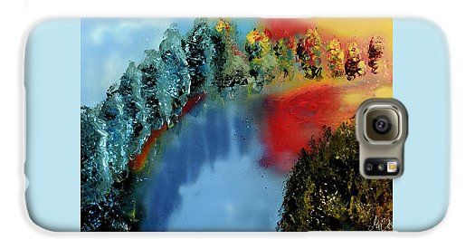 River Of Colors Galaxy S6 Case Printed with Fine Art spray painting image River Of Colors by Nandor Molnar (When you visit the Shop, change the orientation, background color and image size as you wish)