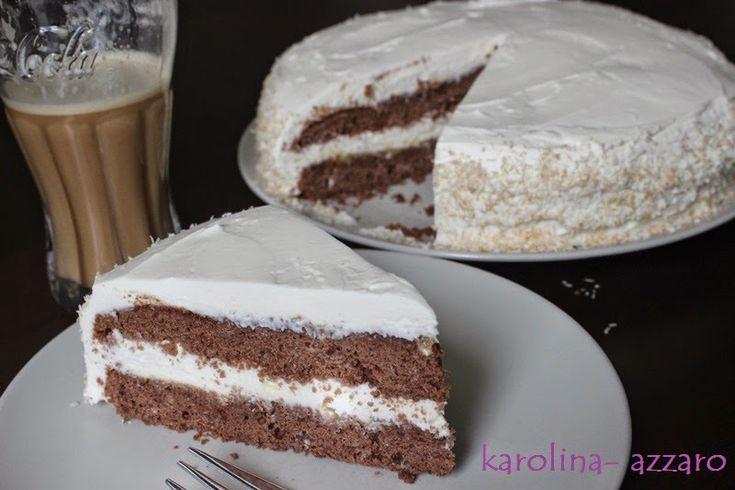 karolina-azzaro: Čokoládová torta s kokosovým krémom z Mascarpone