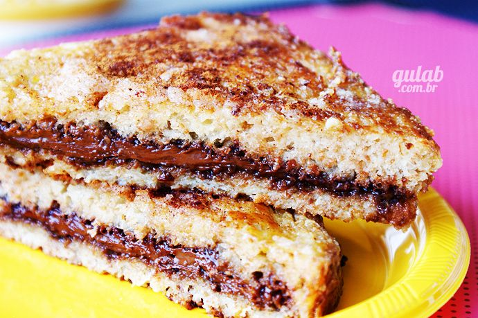 Receita de Rabanada recheada com nutella - Gulab