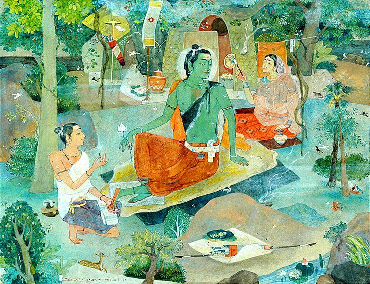 Kala Ksetram, Sita, Rama and Lakshman  by Ajoy Kumar Ghose
