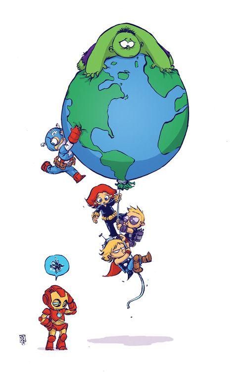Avengers World Skottie Young Variant
