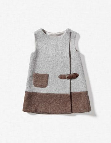 KNITTED PINAFORE DRESS WITH TAB