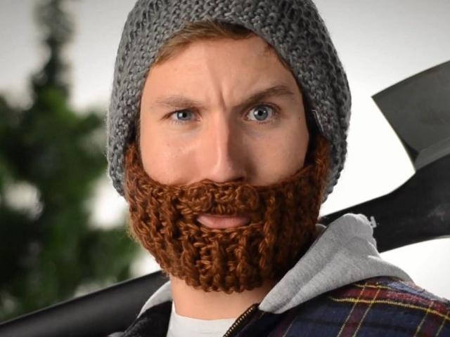 Gorro con barba de quita y pon: Christmas Cards, Di Beardo, Idea, Beards Hats, Beardo Beards, Faces Masks, Funny, Beards Beanie, Gag Gifts
