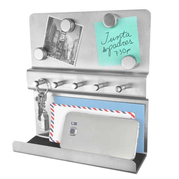 ¿Qué tal este práctico porta llaves para que todo esté en su lugar en la entrada de tu casa?