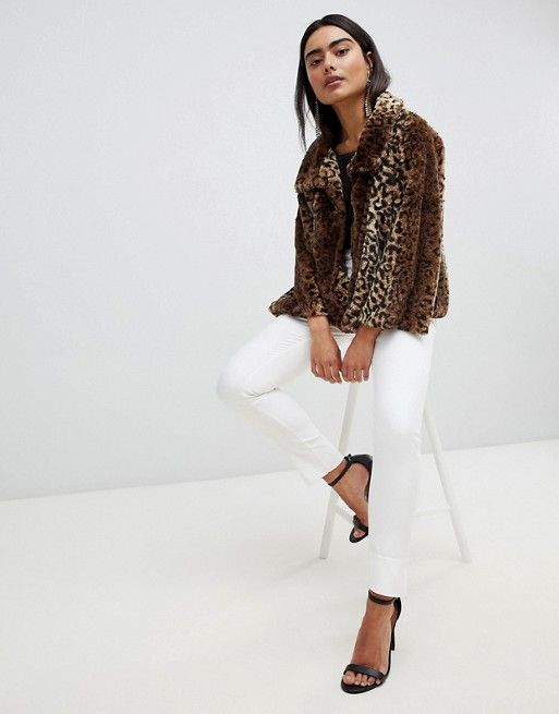8787837a747c Jayley Luxurious Curly Leopard Fur Jacket | Working 9 to 5 | Fur ...