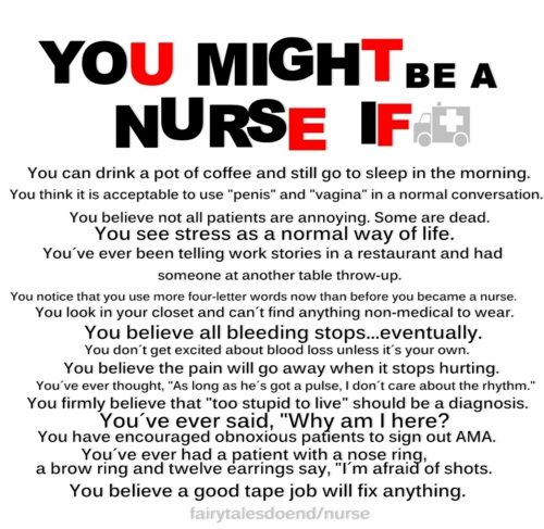 You might be a Nurse if...