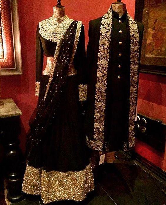 Wedding Combination – Matching Bride lehenga & Groom Sherwani