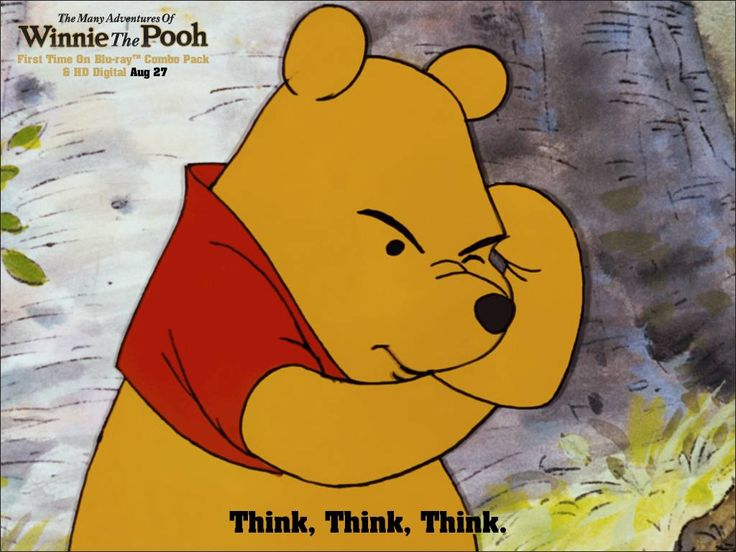 Pooh! :) ...it's funny though because this reminds me of myself at times during the day. :)