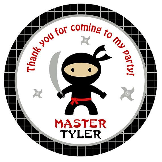 Hey, I found this really awesome Etsy listing at https://www.etsy.com/listing/208949040/ninja-birthday-party-stickers-ninja