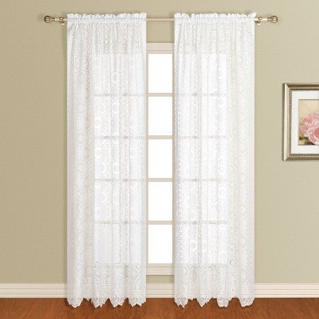 Home White Paneling Lace Curtain Panels Lace Window